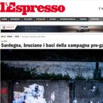Sardegna, bruciano i baci della campagna pro-gay