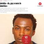 Suicida: «Io, gay e nero in America»