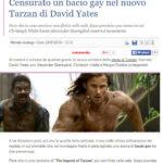 Censurato un bacio gay nel nuovo Tarzan di David Yates