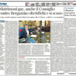 Matrimoni gay, anche il Consiglio contro Bergamin:«Rettifichi e si scusi»
