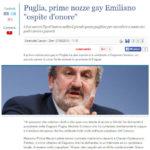 Puglia, prime nozze gay Emiliano