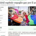 Madrid capitale orgoglio gay per il 2017