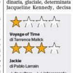Venezia 73 - Le stelle di Mereghetti - Una First Lady straordinaria E Malick scivola sull'universo