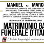 Manifesti funebri Fn a unione gay Cesena