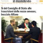 Sì del Consiglio di Stato alle trascrizioni delle nozze omosex, bocciato Alfano