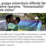 """Gay, gruppo universitario diffonde libretti su teorie riparative. """"Omosessualità? Circolo vizioso"""""""