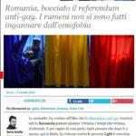 Romania, bocciato il referendum anti-gay. I rumeni non si sono fatti ingannare dall'omofobia