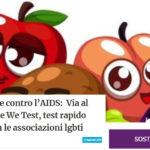 Giornata Mondiale contro l'AIDS:  Via al progetto nazionale We Test, test rapido HIV nei circoli con le associazioni lgbti