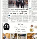 Insieme da quarant'anni - Il primo «sì» a Lisbona,il secondo in municipio